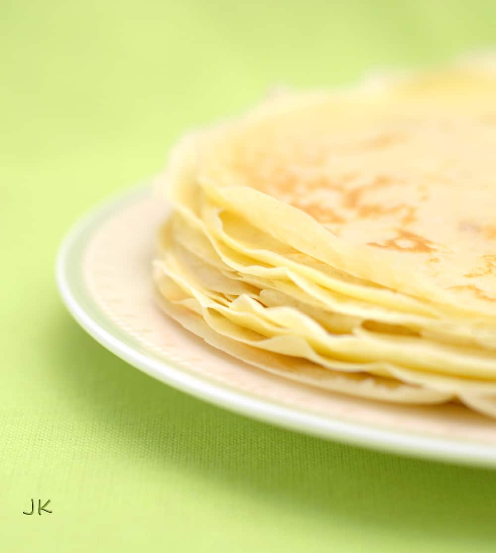 These Traditional Russian Crepes are delicious to have for breakfast with maple syrup or your favourite jam and yogurt. You can also stuff them with ricotta or make them savoury serving them with smoked salmon or cheese.