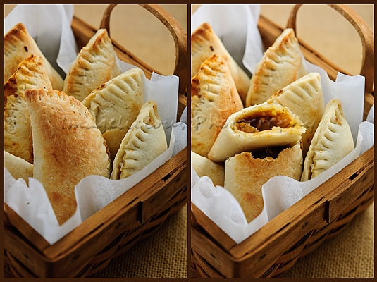Savoury Pastries with Eggplant and Tomato