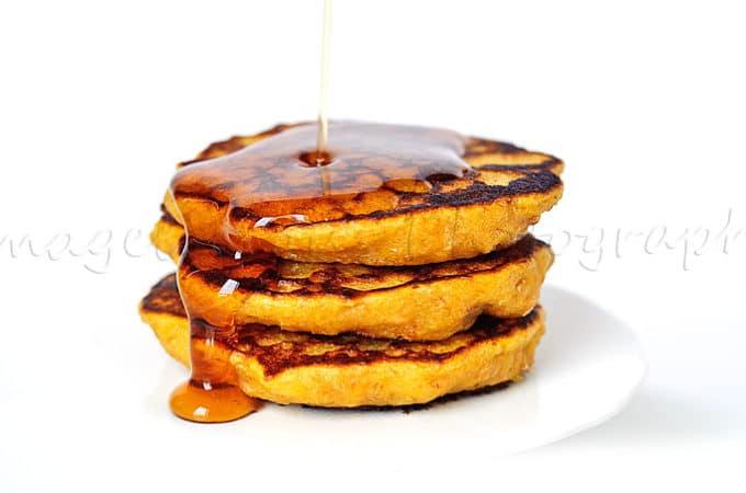 Pumpkin and Bran Vegan Pancakes