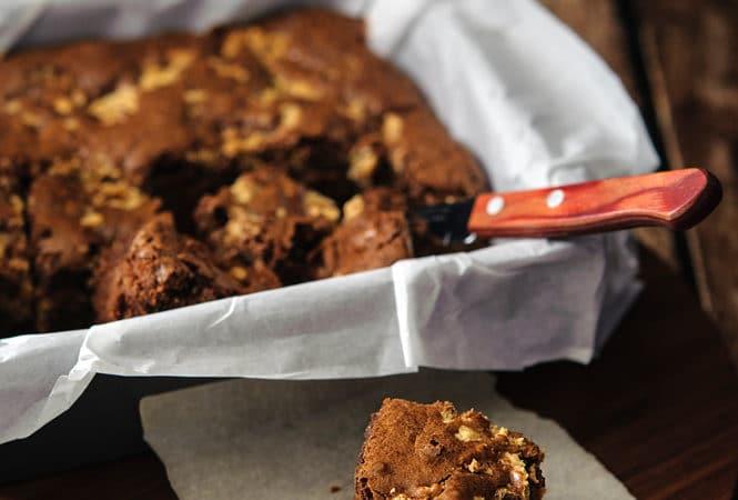 Peanut Butter Swirl Brownies… or almost swirl brownies