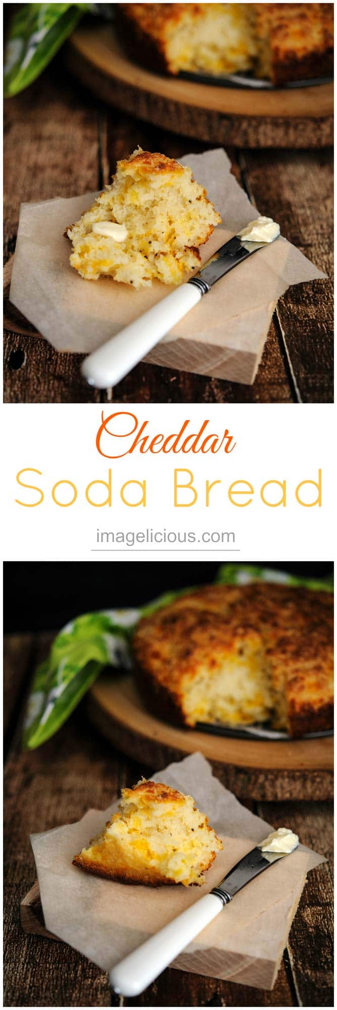 This delicious fluffy and cheesy Cheddar Soda Bread is easy and fast to make for any day of the week