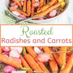 These Roasted Radishes and Carrots with Thyme and Lemon are fresh, buttery and earthy. Delicious as a spring side dish or on top of mixed green leaves as salad. Perfect to make for Easter! | imagelicious.com #radishes #carrots #easter