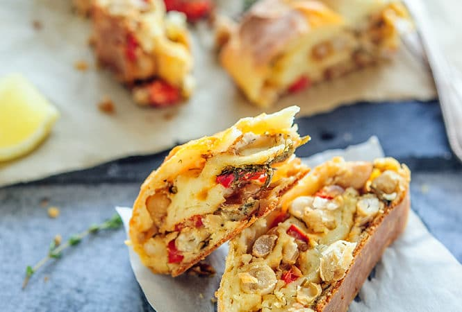 White Bean and Goat Cheese Savoury Strudel