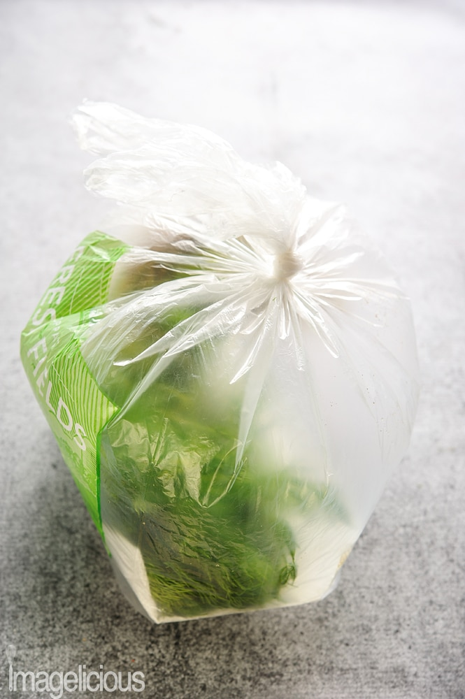 A bag with herbs