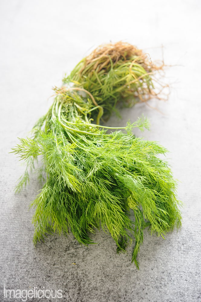 A bunch of dill ready to be stored