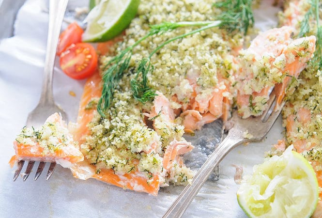 Trout with Lime-Dill Crust