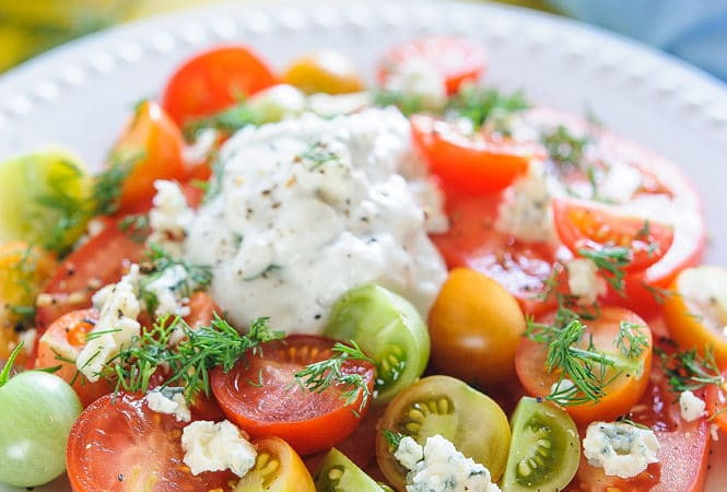 Tomato Salad with Blue Cheese Dressing