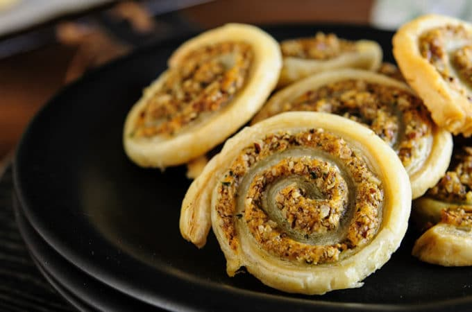 Cheese and Nuts Pinwheels