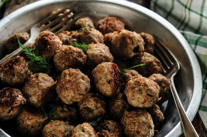Oven-Baked Dill Meatballs