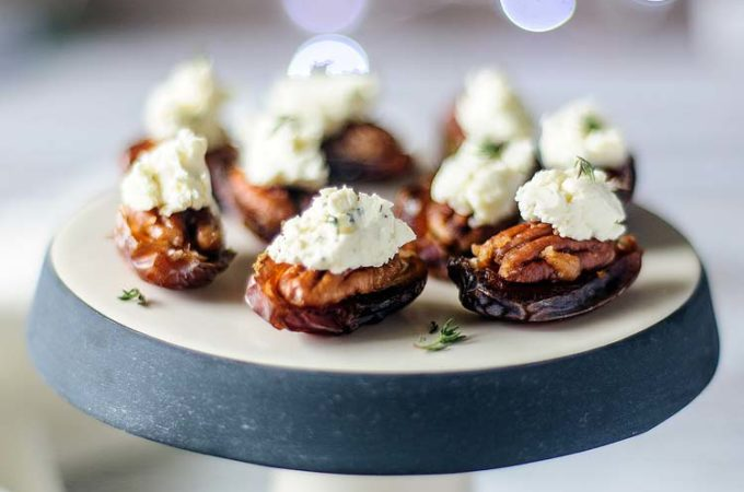 Pecan and Boursin stuffed Dates and Happy New Year