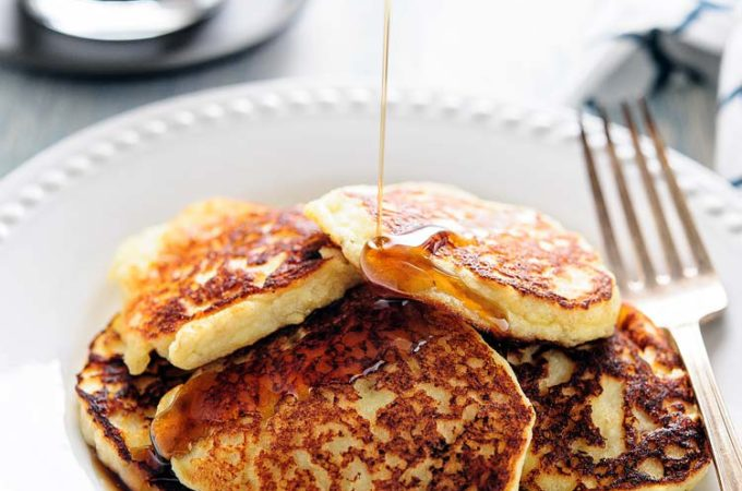 Gluten-free Banana and Ricotta Pancakes