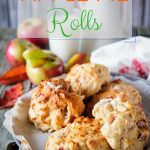 These Apple Pie Rolls taste like apple pie but without all the effort. Only a few ingredients, true One Bowl recipe   imagelicious.com #apples #applerolls #applepie #fall #autumn #fallbaking