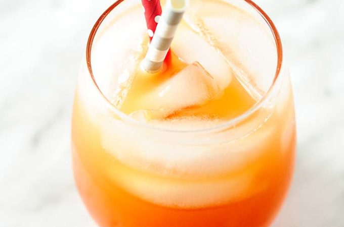 Festive and refreshing Sparkling Campari Orange cocktail