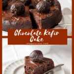 This Chocolate Kefir Cake is moist and delicious. It's lighter than regular chocolate cake but still has intense flavour and is perfect to end any meal. Great for Valentine's Day dessert | Imagelicious.com #chocolatecake #valentinesday #eggfree