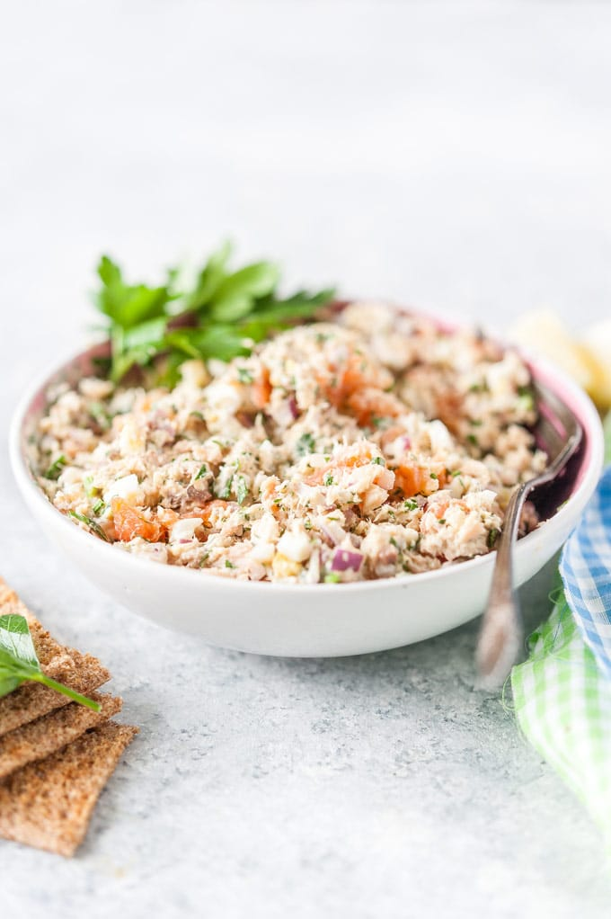 Bowl with Salmon Rillettes