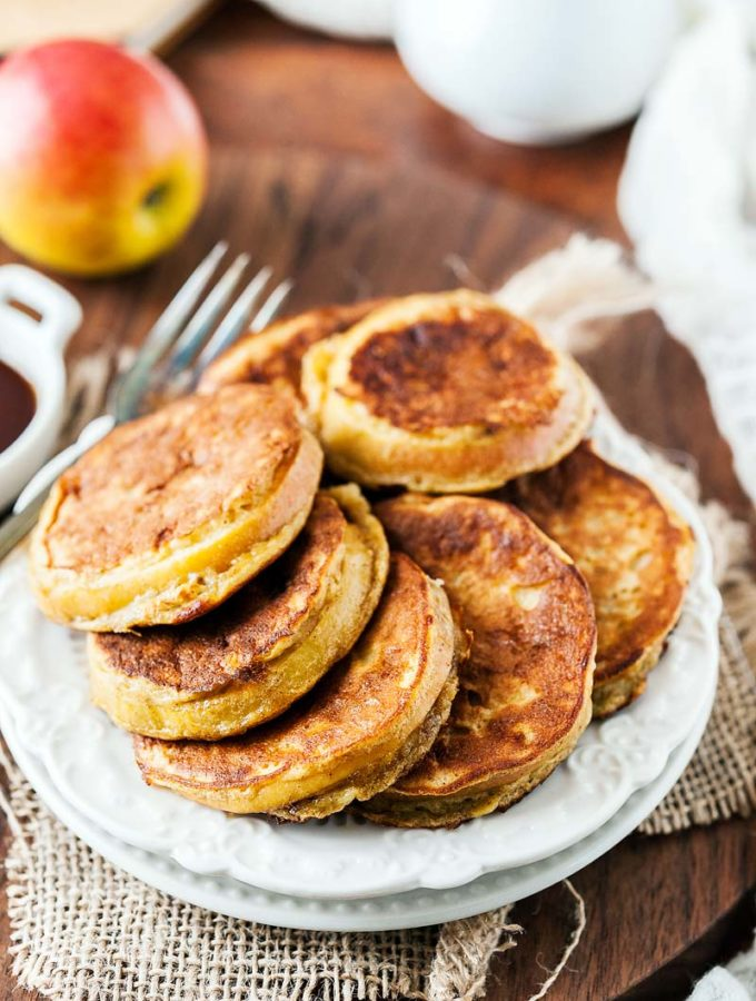Apple Banana Fritters taste like dessert but are perfect for a healthy breakfast. They are gluten-free, easy to make and have only a handful of ingredients | Imagelicious