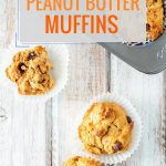These Vegan Peanut Butter Muffins are delicious and you will never guess that they contain no eggs or butter. Flavoured with apple sauce they are soft, fluffy and take very little time to make. Perfect for breakfast or afternoon snack | Imagelicious.com #vegan #peanutbutter #muffins #vegandessert #peanutbuttermuffin