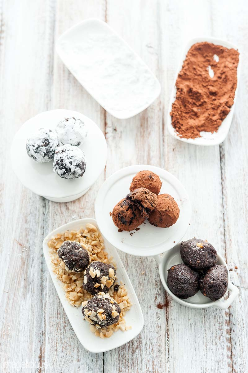 Learn how to turn cupcakes into truffles - four different flavours for any taste. Perfect for a snack with a cup of coffee or elegant dessert. Great way to use dry cupcakes | Imagelicious