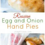 Russian Egg and Onion Hand Pies are a great snack or an appetizer. Add a salad and some veggies and it's a full meal also. They are great to eat on the go and perfect to take to a picnic. Perfect way to use up all the eggs from Easter | Imagelicious
