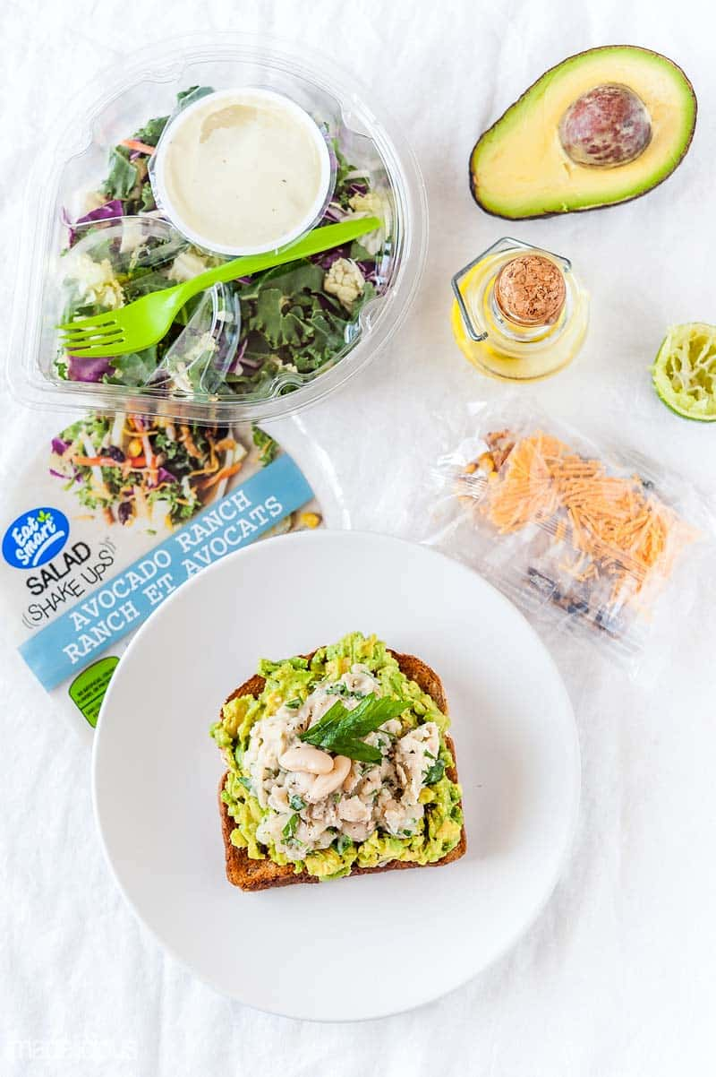 Avocado-White Kidney Beans Toast is a delicious and healthy breakfast, lunch, or even light dinner. It comes together in a matter of minutes and keeps you full for hours. Perfect for any time of the year and easy to make. Pair it with Eat Smart Salad and you have a complete meal | Imagelicious