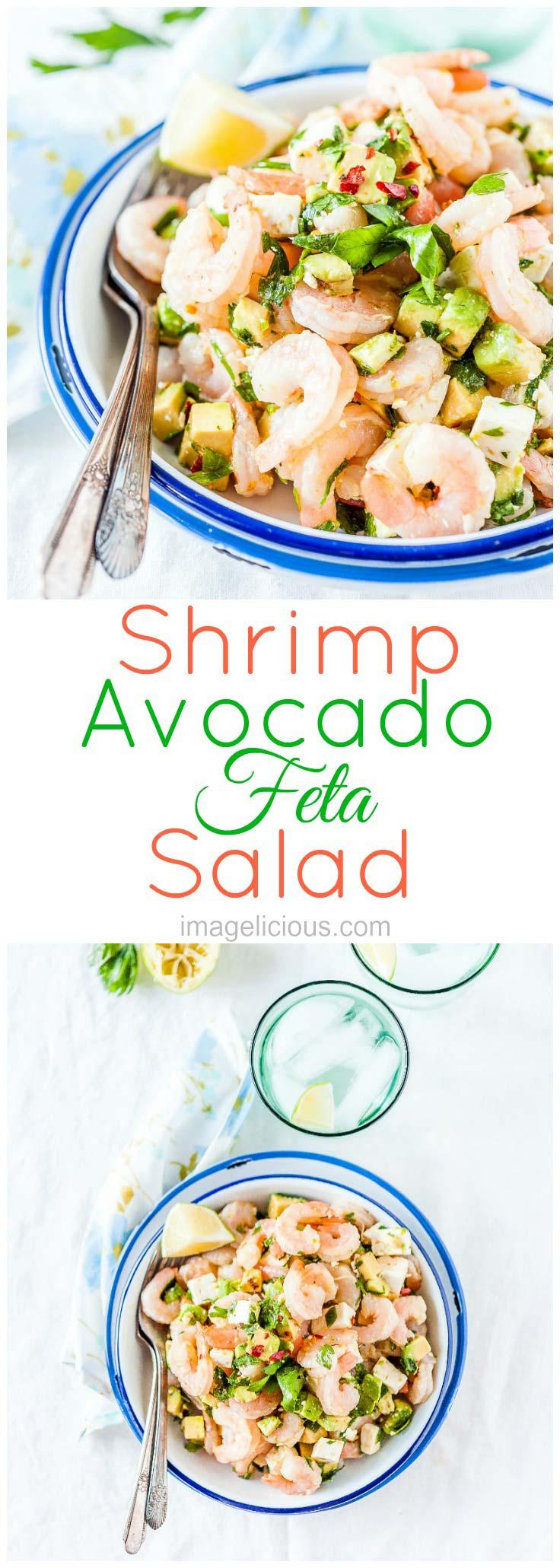 Shrimp | Avocado | Feta | Salad | Healthy | Easy | Quick | 5-minutes | Imagelicious