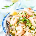 Shrimp, Avocado and Feta Salad is delicious, colourful, and healthy. It's a perfect lunch or dinner and can be made into a sandwich. The salad is easy and only takes a few minutes to prepare   Imagelicious