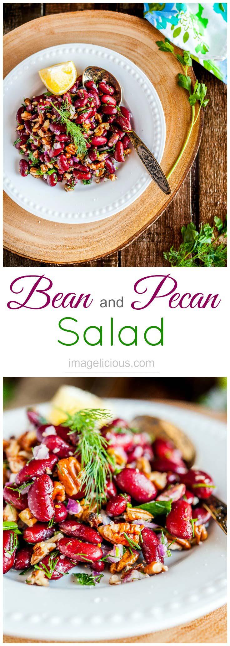 Beans | Pecans | Salad | Summer | Picnic | Potluck | Vegan | Gluten-free | Russian