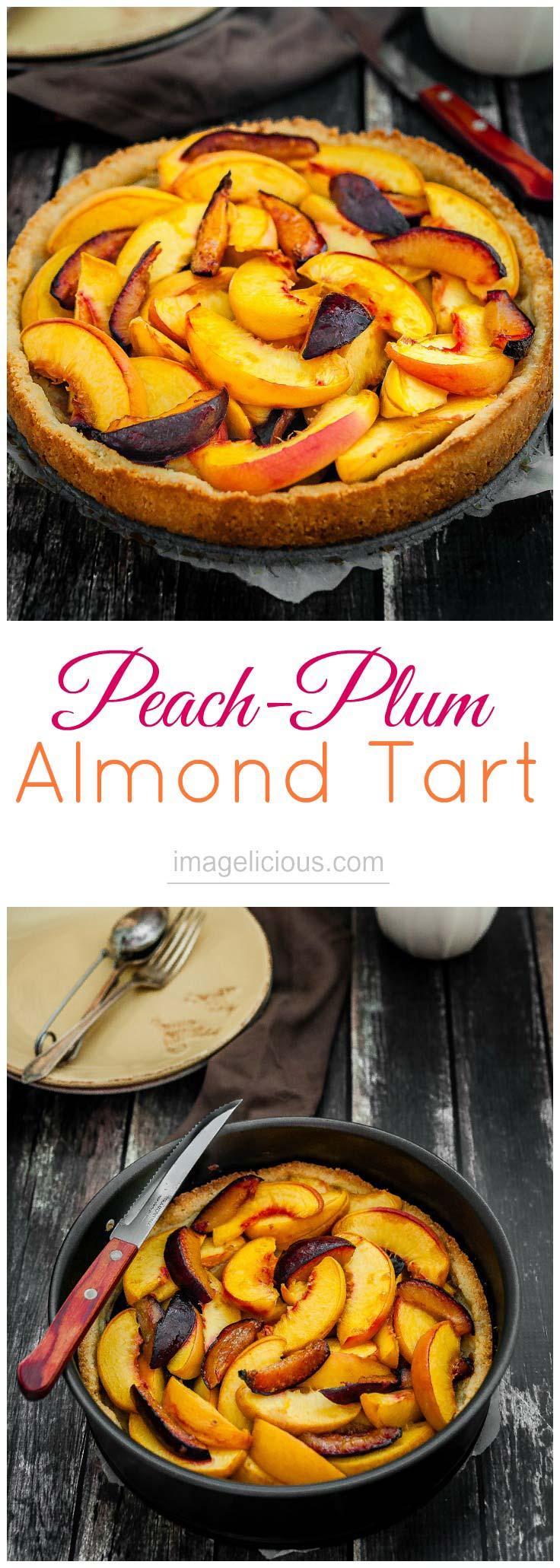 Peach desserts | Plum desserts | Fruit desserts | Fruit recipes | Plum tart | Peach tart | Peach Plum Tart | Tart | Dessert | Baking | Fruit | Stone fruit | Imagelicious