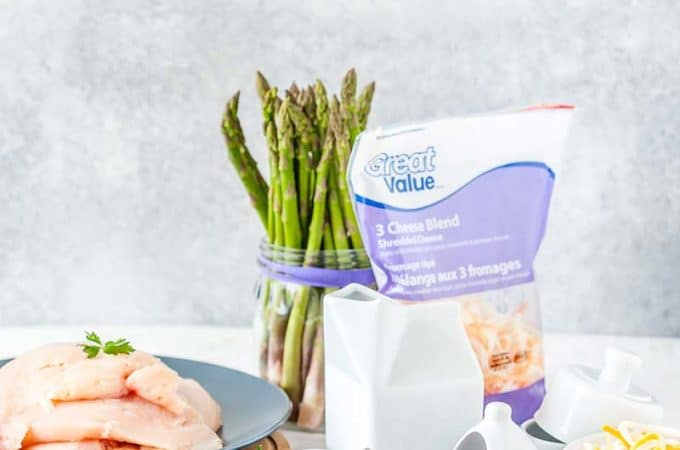 Everything is better with bacon, specially Great Value Bacon! Add bacon and a few asparagus spears to a humble chicken breast and you get a delicious, elegant, and really easy Bacon-Wrapped Chicken - perfect for a weeknight meal or a fancy weekend dinner | #WeLoveGreatValue #ad | Imagelicious