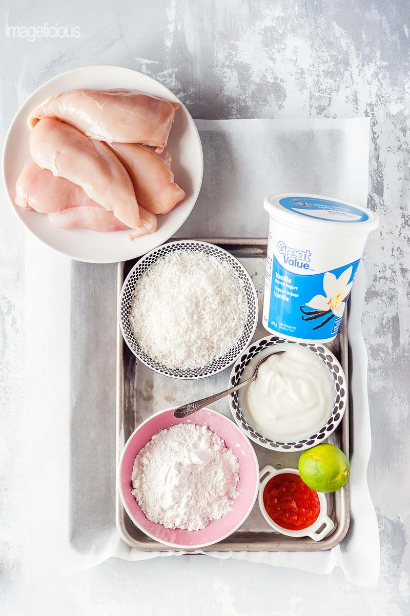 Yogurt isn't just for breakfast and snacks. Add great flavour and Great Value Yogurt to savoury dishes and enjoy this versatile ingredient during dinner. Coconut Chicken Fingers made with Vanilla Great Value Yogurt will delight everyone | #WeLoveGreatValue #ad | Imagelicious