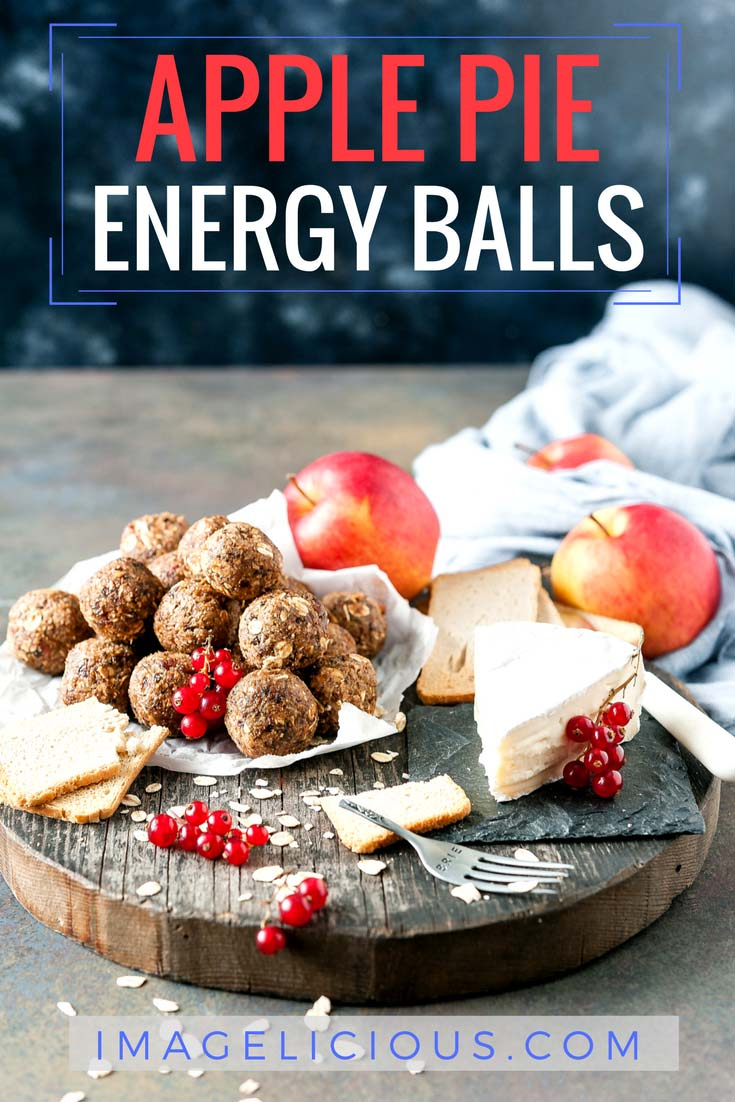 Apple Pie Energy Balls are a delicious and healthy vegan and gluten-free snack made without any added sugar | imagelicious.com #vegan #glutenfree #energyballs #apples #ad #sponsored