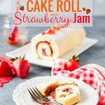 This super Easy 3-Ingredient Cake Roll with Strawberry Jam is perfect to celebrate the summer! It can be done and ready to serve in under an hour. It uses only simple ingredients and has no oil or butter | imagelicious.com #cakeroll #canadaday #3ingredients #strawberrydesserts #russiancake