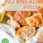 Vegan Instant Pot No Knead Hawaiian Rolls are a perfect addition to your bread basket. Slightly sweetened with pineapple juice and made with coconut milk, they are soft, yet sturdy and perfect for sandwiches. These Hawaiian Rolls require no kneading and they rise in your electric pressure cooker | imagelicious.com #instantpot #instantpotbread #hawaiianrolls #vegan #veganhawaiianrolls #instantpothawaiianrolls #nokneadbread #nokneadrolls