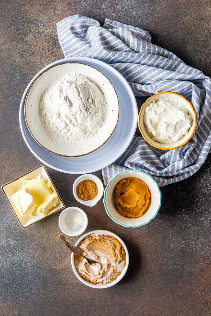 All the ingredients to make Pumpkin Ricotta Cookies