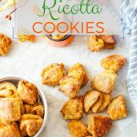 These Pumpkin Ricotta Cookies are lightly sweetened and spiced with cinnamon. Flakey, crisp, and addictive | imagelicious.com #cookies #fallbaking #pumpkin #pumpkinrecipes #russiancookies