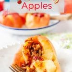 Instant Pot Baked Applesare sweet and soft and luscious. It's like eating an Apple Pie without any guilt. And they are ready in under 30 minutes! Delicious vegan and gluten-free dessert | imagelicious.com #vegan #instantpot #apples #ad
