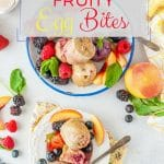 These Instant Pot Fruity Egg Bites are lightly sweetened with banana and fruits and berries. They are a mix between pancakes and ricotta cakes. Gluten-free and perfect with maple syrup for breakfast | imagelicious.com #instantpot #instantpotrecipes #eggbites #glutenfree #sponsored #WorldEggDay