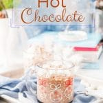 Instant Pot Hot Chocolate is creamy and rich. Lightly sweetened with maple syrup and Nutella - no stirring required | imagelicious.com #instantpot #hotchocolate #instantpotrecipes