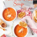 Instant Pot Tomato Orzo Soup is wonderfully filling and savoury. It is really easy to make and has minimal ingredients | imagelicious.com #tomatosoup #instantpot #orzo #sponsored