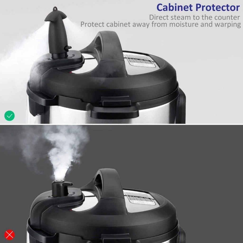 Steam diverter for Instant Pot