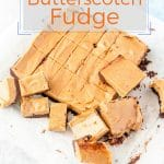 Beet Butterscotch Fudge is easy to make and delicious, it even has a serving of hidden veggies. Beautiful to serve guests for dinner and can be made in advance and freezer-friendly | imagelicious.com #fudge #freezerfriendly #beets