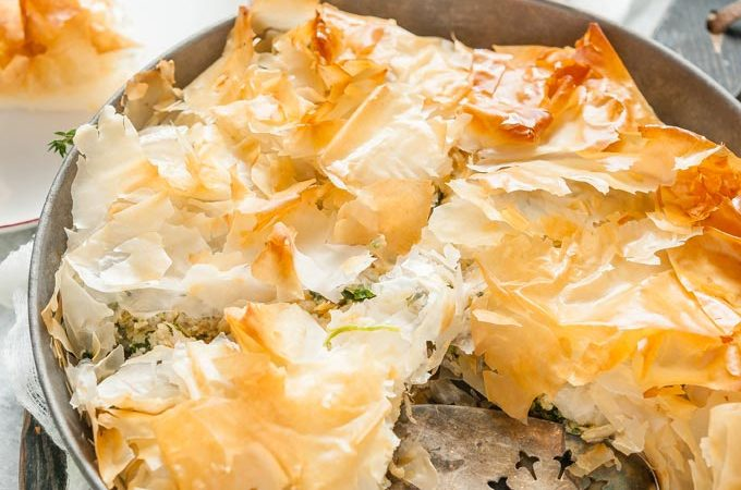 Chicken Spinach Filo Pie