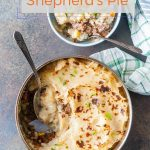 This Instant Pot Shepherd's Pie is the easiest and most convenient way to make it. No pots and pans to stir or drain. Cook in the stackable insert, then bake and serve right in it. Perfectly delicious and easy comfort food | imagelicious.com #comfortfood #instantpot #shepherdspie