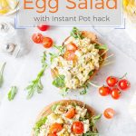 This Tarragon Egg Salad is creamy and healthy, it has a delicious and vibrant tarragon flavour. Eggs are cooked in Instant Pot, thus making this salad really fast and simple. Perfect for Easter Breakfast | imagelicious.com #easter #eggsalad #instantpotrecipes