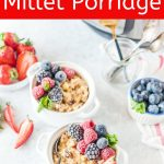 Instant Pot Millet Porridge (or Millet Pudding) is a delicious, easy, and healthy breakfast. Great alternative to oatmeal. Naturally gluten-free and easily converted to a vegan lifestyle. Fast and easy to make with electric pressure cooker | imagelicious.com #millet #instantpotrecipes