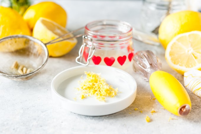 Lemon zest and lemon juice