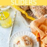 These Spicy Hawaiian Sliders are a perfect mix of sweet, savoury, and spicy. Great for busy weeknight dinner or relaxing weekends. Also great to bring to parties or picnics | imagelicious.com #sliders #hamsliders #hawaiian