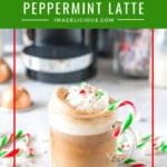 This Peppermint Marshmallow Latte is the ultimate winter coffee drink. Hygge moment. Smooth, sweet, creamy, delicious! Perfect way to celebrate the cold days and the holidays | imagelicious.com #peppermint #coffee #hygge #sponsored #nespresso