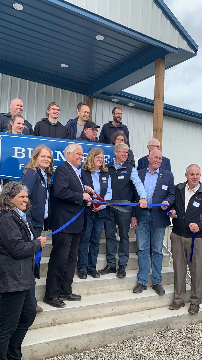 Grand opening ceremony of new Burnbrae Farms solar facility.