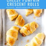 Cheesy Pumpkin Crescent Rolls are the easiest fall snack or appetizer. Delicious and very fast to make. Perfect for those cheese cravings. Great to make on a busy weeknight | imagelicious.com #crescentrolls #pumpkinrecipe #cheese